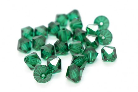 Emerald Swarovski Crystal Bicone Beads 5301/5328 - Factory Pack Quantity