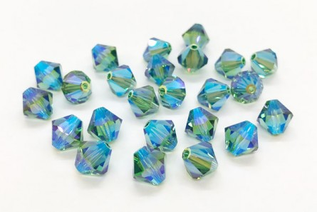 Erinite AB2x Swarovski Crystal Bicone Beads 5301 - Factory Pack