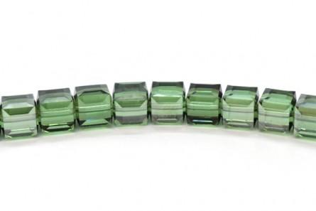 Erinite Satin Swarovski Crystal Cube Beads 5601