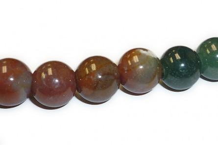Fancy Jasper ( Natural)  A grade Big Hole Round Gemstone Beads