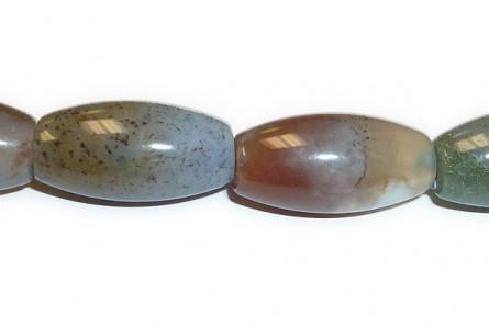 Fancy Jasper (Natural) Rice/Oval Gemstone Beads - Large Hole (Sale)