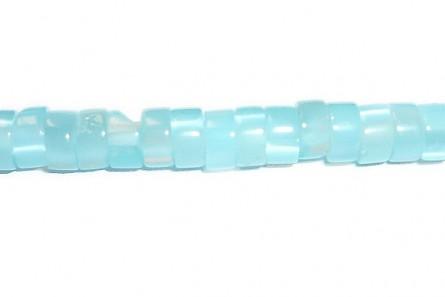 Aqua Fiber Optic, Cat's Eye Glass, Heishi Beads