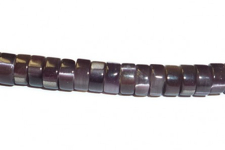Dark Purple  Fiber Optic  (Cat's Eye) Heishi Beads