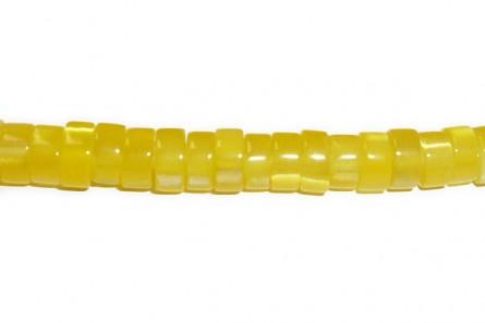 Dark Yellow  Fiber Optic (Cat's Eye) Heishi Beads