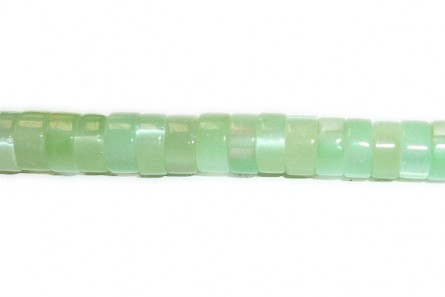 Light Green  Fiber Optic (Cat's Eye) Heishi Beads