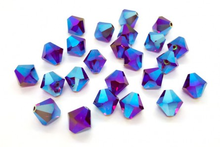 Garnet AB2x Swarovski Crystal Bicone Beads 5301/5328 - Factory Pack