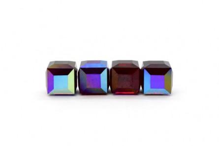 Garnet AB Swarovski Crystal Cube Beads 5601