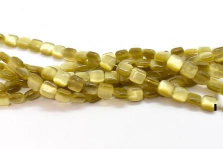 Gold Fiber Optic (Cat's Eye) Glass Beads Pillow/Square