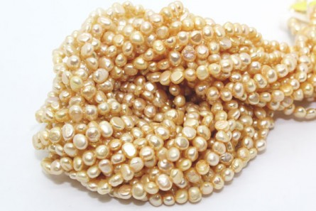 Irregular Potato Freshwater Pearls - Golden