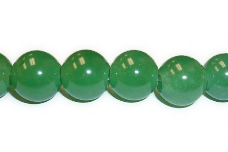 Green Aventurine (Natural) A grade Big Hole Round Gemstone  Beads