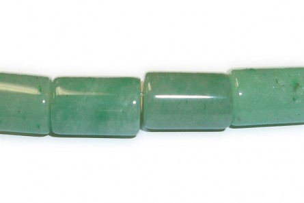 Green Aventurine ( Natural ) A grade Big Hole Tube Gemstone Beads
