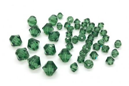 Green Turmaline Swarovski Crystal Bicone Beads 5301/5328