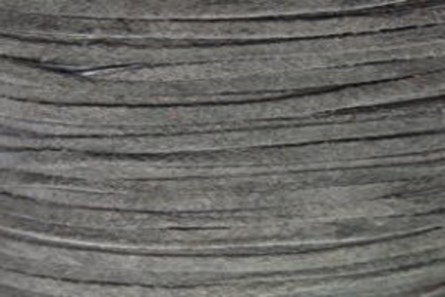 Grey Flat Suede Lace Cord - 2mm