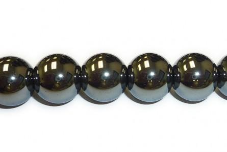 Hematite (Natural ) A Grade Big Hole Round Gemstone Beads