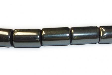 Hematite ( Natural ) A Grade Big Hole Tube Beads