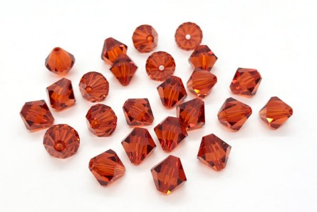 Indian Red Swarovski Crystal Bicone Beads 5301 - Factory Pack Quantity