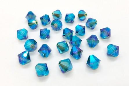 Indicolite AB2x Swarovski Crystal Bicone Beads 5301/5328 - Factory Pack