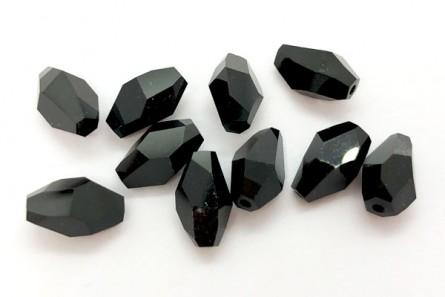 766b915bbaac Swarovski Crystal 5203 Faceted Polygon Bead Jet