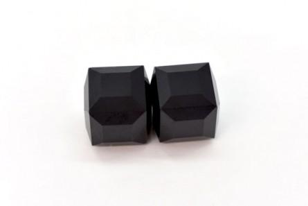 Jet Swarovski Crystal Cube Beads 5601