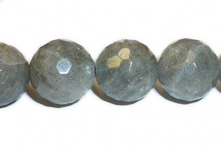 Labradorite ( Natural ) A grade Faceted Disco Cut Round Gemstone Beads