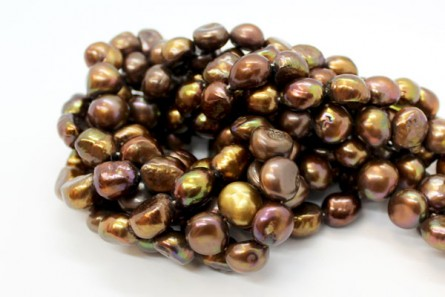 Irregular Potato Freshwater Pearls - Brown / Copper - A Grade