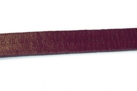 Cord, leather (dyed), dark purple,strap, greek. Sold per foot.