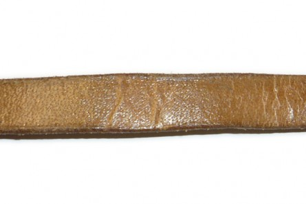 Cord, leather (dyed), brown distressed,strap, greek. Sold per foot.