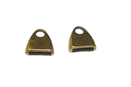 Flat End Caps - Antique Brass Over Brass