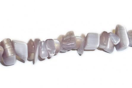 Lavender Fiber Optic (Cat's Eye) Glass Beads - Chips