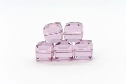 Light Amethyst Swarovski Crystal Cube Beads 5601