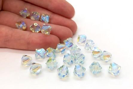 Light Azore AB2x Swarovski Crystal Bicone Beads 5301/5328 - Factory Pack