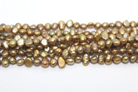 Irregular Potato Freshwater Pearls - Light Bronze Peacock - A Grade - 4mm