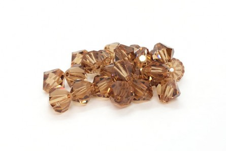 Light Colorado Topaz Swarovski Crystal Bicone Beads 5301/5328 - Factory Pack Quantity