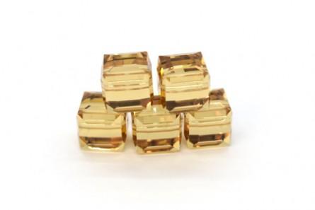 Light Colorado Topaz Swarovski Crystal Cube Beads 5601 6mm - Sale