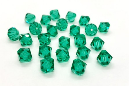 Light Emerald Swarovski Crystal Bicone Beads 5301/5328 - Factory Pack Quantity