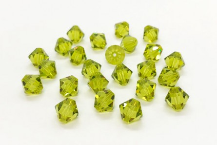 Light Olivine Swarovski Crystal Bicone Beads 5301/5328 - Factory Pack Quantity
