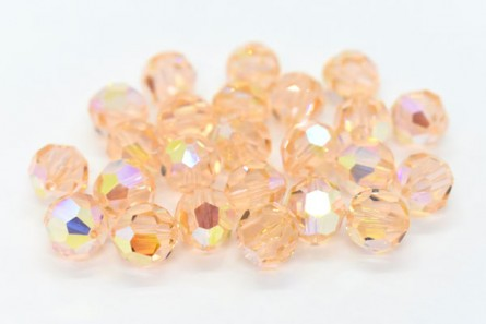 Light Peach AB Swarovski Crystal Round Beads 5000 - Factory Pack