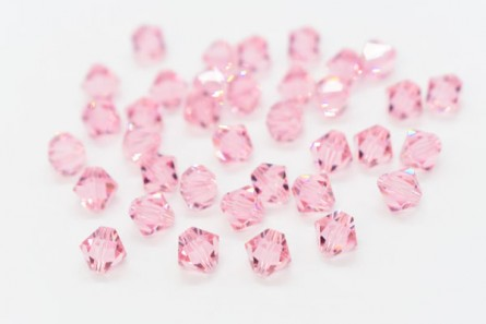 Light Rose 5301/5328 Swarovski Elements Crystal Bicone Beads
