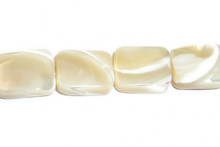 Mother of Pearl Flat Rectangle Shell Beads - Natural