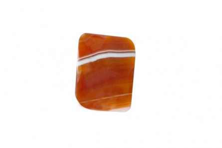 Sardonyx (Natural) Faceted Wavy Rectangle Gemstone Bead