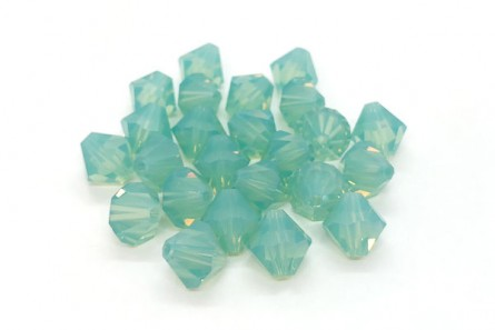 Pacific Opal Swarovski Crystal Bicone Beads 5301/5328