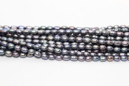 Rice Freshwater Pearls - Peacock - A Grade