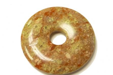 Mayflower Jasper ( Natural ) A Grade Gemstone Donut Pendant