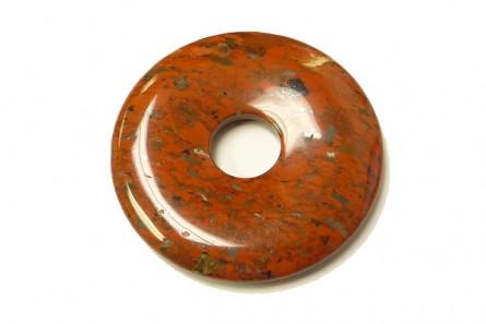 Poppy Jasper ( Natural ) A Grade Donut Stone Pendant