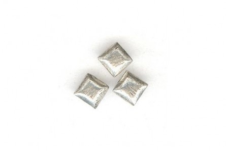 Sterling Silver Brushed Bali Style Square Beads - Bright