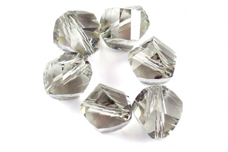Black Diamond Swarovski Crystal Faceted Helix Beads 5020
