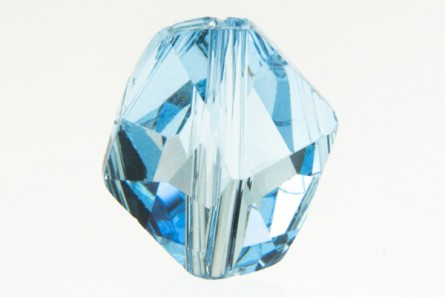Aquamarine,Bead,Swarovski crystals,12x11mm faceted cosmic (5523).
