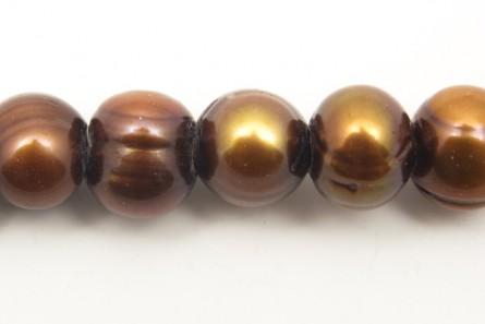 Big Hole Potato Freshwater Pearls  - Antique Copper - A Grade