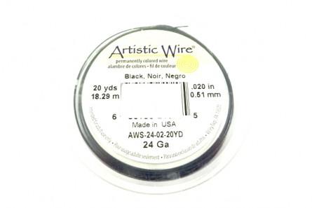 Black Artistic Wire (24 Gauge)