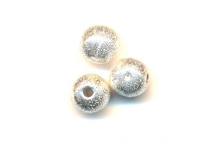 Sterling Silver Brushed Round Beads  (Bright ) 6mm & 8mm